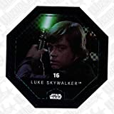 Rewe STAR WARS Cosmic Shells Normal 16 Glitzer Luke Skywalker + WIZUALS STICKER