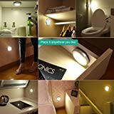 from Oria Oria 3 Pack Motion Sensor Light, cordless Battery-Powered Light, Automatic Night Light with 3M Adhesive Pads , Stick-Anywhere, Perfect for Closet, Hallway, Stairs, Bedroom,ect. Model ORIA