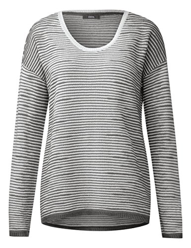 Cecil Damen Pullover Mehrfarbig (Graphit Light Grey 20498)