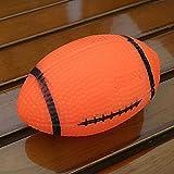 Ordertown Quietschspielzeug für Hunde & Haustierzubehör, Kauspielzeug für Welpen, Rugbyball, quietschendes Training, mit Geräuschunterdrückung, Geschenk für Haustiere