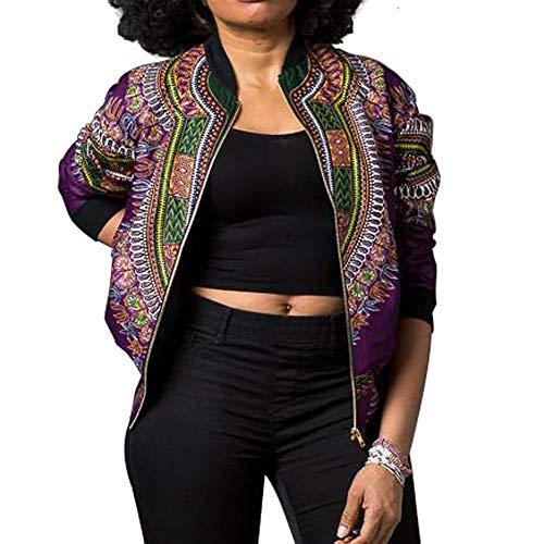 BaZhaHei Damen Mantel Frauen Dashiki Langarm Mode African Print Dashiki Kurze Freizeitjacke Afrika Drucken Kurzer Absatz Jacke -