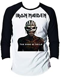 Iron Maiden Official Mens Raglan Baseball Long Sleeve Printed T-shirt - Book Of Souls