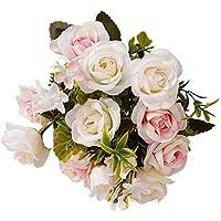 Alcyoneus, 1mazzo di 15 fiori finti in stile europeo, decorazione per la casa Light Pink