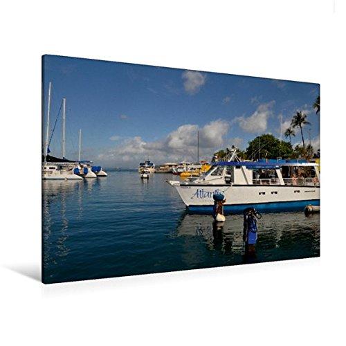 Calvendo Premium Textil-Leinwand 120 cm x 80 cm quer, Lahaina, Maui | Wandbild, Bild auf Keilrahmen, Fertigbild auf echter Leinwand, Leinwanddruck Orte Orte