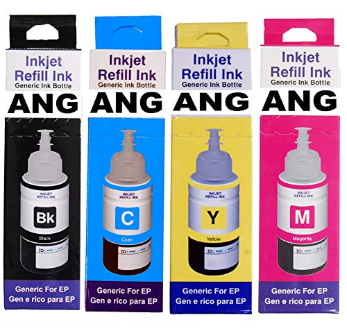 ANG Refill Ink for Use in Epson L405 Multi Function Printer  70 ml ; Black; Cyan; Magenta; Yellow