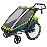 Thule Chariot Sport 1 mit StVZO-Beleuchtung chartreuse/mykonos
