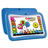 Kinder Tablet Android 7.1, 7 Zoll, Kinder Tablet HD Display, Quad Core, Tablet Kinderschutz, 1 GB RAM + 8 GB ROM, mit WIFI, Dual-Kamera, Bluetooth, Lernspiele, Multi Touch Screen Kindermodell, Kindersicherung, Google Play Store, IWAWA vorinstalliert, kostenlose Silikonhülle (blau) - Bestes Geschenk für Kinder (2018 Neu)
