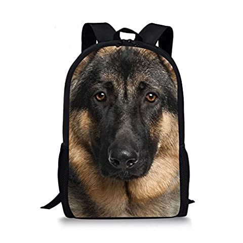 Coloranimal Stylish Pet German Shepherd Dog Pattern Kids Large School Backpacks