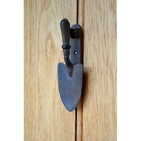 Paleta de jardín de hierro fundido Aldaba para puerta, diseño de