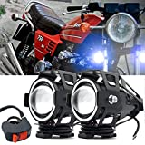Biqing Zusatzscheinwerfer Motorrad LED (U7 Blue Spot Light)