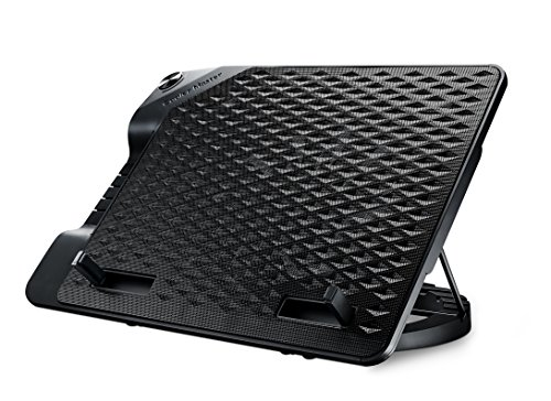 Cooler Master ERGOSTAND III Notebook-Kühler 'Einstellbarer Winkel, USB Hub, Kompatibel mit bis zu 17 Zoll Laptops' R9-NBS-E32K-GP (Kühler Lautsprecher Mit)