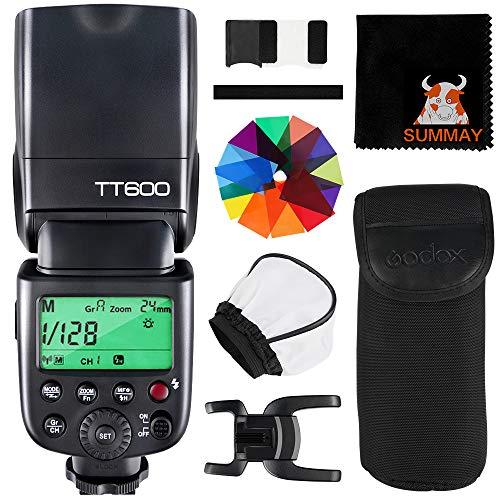GODOX TT600 Kamera Blitz Speedlite TTL 24G HSS 1/8000S GN60 Flash Speedlite Kompatibel mit Canon Nikon Fujifilm Pentax Olympus Panasonic Kameras (TT600)