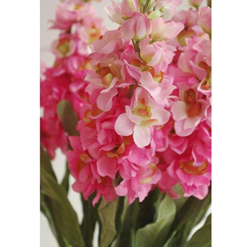 Miguor Künstliche Blumen/-Dekoration, 3-teilig, Wasserhyazinthe Künstliche Blumen, Set für Dekoration, Hochzeit, Dekoration, Tisch, Dekoration, Blumen-Arrangement hellrot