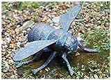 'diesig Tagen' Gusseisen Bumble Bee mit ausgefallenem Grünspan Finish–Lovely Ornament Garten Skulptur