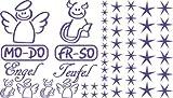 Autoaufkleber Sticker Aufkleber Set für Auto Schriftzug Engel Mo-Do Fr-So Teufe (043 lavendel)