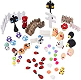 eBoot 56 Pieces Fairy Garden Accessories Miniatures Ornaments Kit for DIY Dollhouse Decor