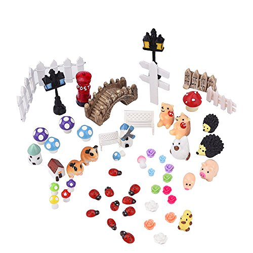 Paisaje Ornamento Decoración Adorno Miniatura Jardín de Hadas, 56 piezas