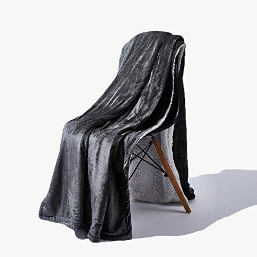 TANTI Sherpa Fleece Decke Wohndecke Flauschig Reversible Fuzzy Bett Wirft Schmusedecke Mikrofaser Kuscheldecke Luxus Tagesdecke für Bett Oder Couch Bett 78