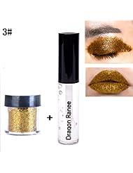 Oyalaiy Glitter Fix Gel + Loose Glitter Ensemble de poudre d'ombre ¨¤ paupi¨¨res Comestic
