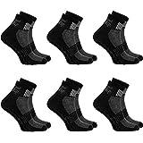 1,2, 4 oder 6 Paar schwarze Anti-Rutsch-Socken mit ABS-System, ideal für solche Sportarten,wie Joga,Fitness,Pilates,Kampfkunst,Tanz,Gymnastik,Trampolinspringen.Größen von 36 bis 46,atmende Baumwolle
