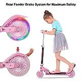 Bunao Cityroller Scooter Kinder Roller Tretroller Cityroller Kick Scooter klappbar mit LED Big Wheel Kugellager ABEC 7 für Mädchen Kinder ab 3 Jahre (Typ3)