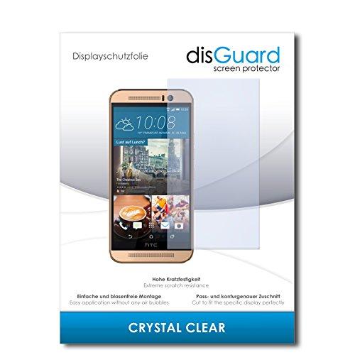 disGuard® Displayschutzfolie [Crystal Clear] kompatibel mit HTC One M9 (Prime Camera Edition) [2 Stück] Kristallklar, Transparent, Unsichtbar, Extrem Kratzfest, Anti-Fingerabdruck - Panzerglas Folie, Schutzfolie