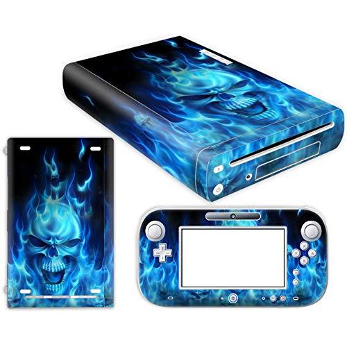 DAPANZ Schutzfolie für Nintendo Wii U Konsole und Controller (Vinyl) Totenkopf