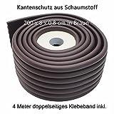 Kantenschutz Eckenschutz 2 Meter Selbstklebend Für Kinder-Sicherheit Zuschneidbar Braun