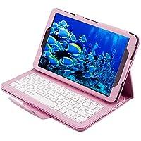 Broadray - Funda de piel con teclado Bluetooth y función atril para Samsung Galaxy Tab A 10.1 T580 S