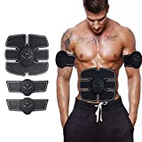 #4: Vmoni Muscle Exerciser Trainer Smart ABS Stimulator With ABS Stickers Pad For Body Slimming Massager Fitness Gym For Unisex