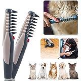 Kicode Électrique Peigne de chat pour chien de compagnie Nid de coupe-cheveux Out Tangles Tool Fournitures de brosses