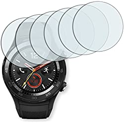 6x Golebo Anti-Glare screen protector for Huawei Watch 2 (Anti-Reflex, Air pocket free application, Easy to remove)