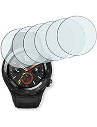 6x Golebo Semi-Matt protectores de pantalla para Huawei Watch 2 - (efecto antirreflectante, montaje muy fácil, removible sin residuos)