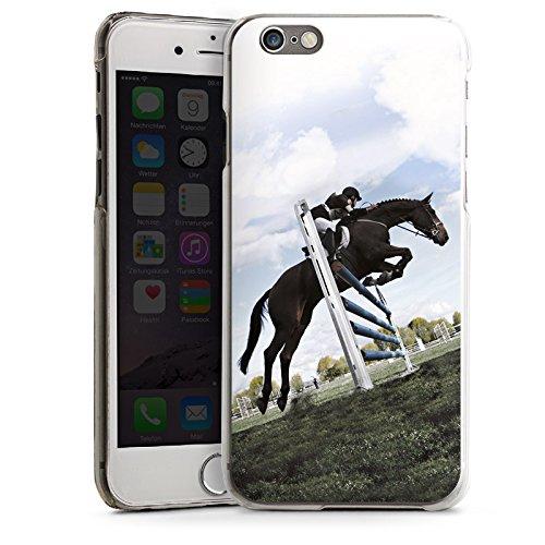 Apple iPhone 5s Housse étui coque protection Cheval Équitation Faire du cheval CasDur transparent