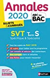 Annales ABC du BAC 2020 SVT Term S
