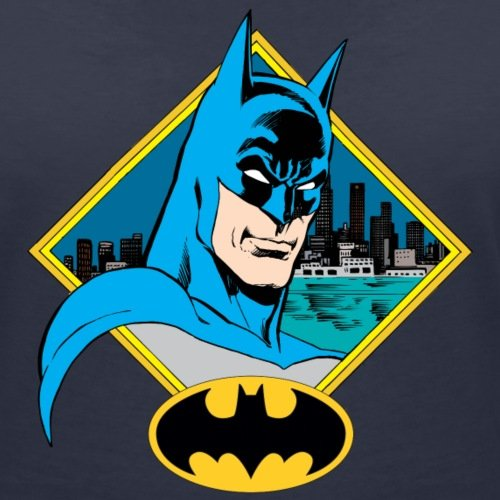 DC Comics Originals Batman Portrait Et Logo T-shirt col V Femme de Spreadshirt®‎ Bleu Marine