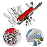 Allright 17 Funktionen Taschenmesser Multitools Mehrzweck-Messer mit Gürteltasche