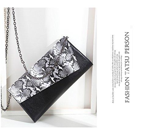 Schulter Diagonal Überqueren High - End - Leder - Hand Beutel Female Fashion Tasche Einfach Stein schlange.