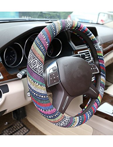 automotive-steering-wheel-cover-ethnic-style-baja-blanket-exotic-look-flax-cloth-wrap-cover-fit-for-