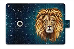 For Apple iPad Air Case Leather iPad 5 Folio Case Multi Smart Cover - Lion King a-90168