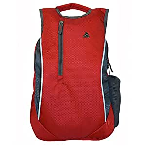 Clubb Radium College 8 Ltrs Red And Grey Casual Backpack