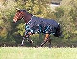 Shires Tempest Original 100Outdoor-Pferdedecke, mit Futter 100g schwarz/blau, multicolore -...
