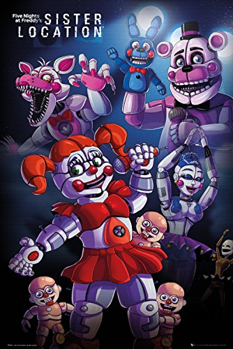 GB eye Five Nights At Freddy's, Sister location Group, Maxi Poster 61x91.5cm, Various