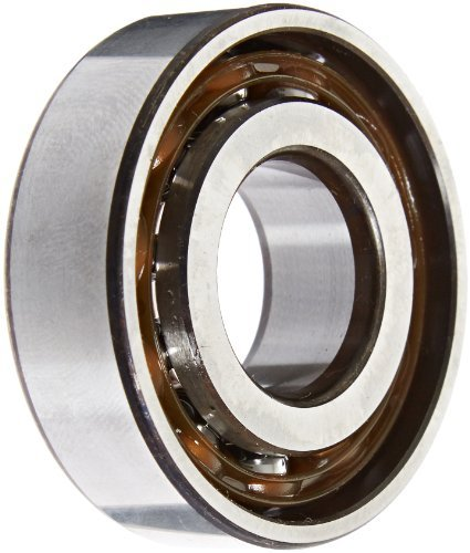 SKF 7204 BEP Light Series Angular Contact Ball Bearing, ABEC 1 Precision, 40? Contact Angle, Maximum Capacity, Open, Polyamide/Nylon Cage, Normal Clearance, 20mm Bore, 47mm OD, 14mm Width, 1870.0 pounds Static Load Capacity, 3150.00 pounds Dynamic Load Capacity by SKF