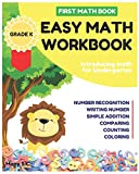 Easy Math Workbook for Kindergarten: First Math Book ; Grade K ; Introducing Math for Kids 3-5 ; Number Recognition, Addition, Writing Number, ... the Number (Math Basic Vol.1, Band 1)