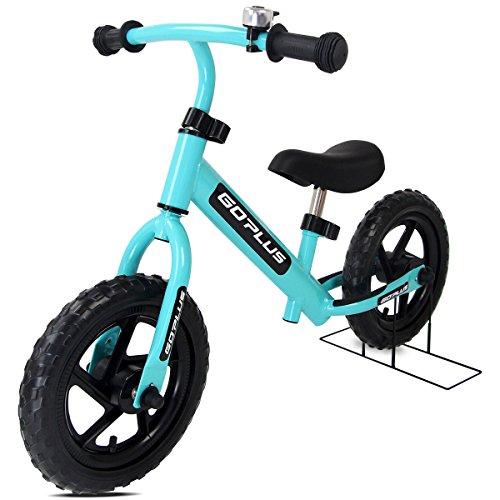 "COSTWAY 12\"" Laufrad, Balance Fahrrad höhenverstellbar, Balance Bike aus Stahl, Kinderlaufrad mit Klingel, Lernlaufrad 50KG belastbar, Lauflernrad ab 3 Jahre, Kinder Fahrrad 87x44x58,5cm (blau)"