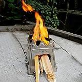 Lixada Edelstahl Holzofen Für Picknick BBQ Camping 7,09X 6,50 X 0.39 Inch - 3