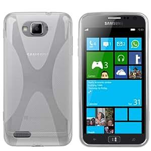 mumbi TPU Skin Case Samsung Ativ S Silikon Tasche Hülle - Silicon Protector Schutzhülle transparent weiss
