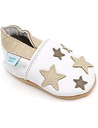 Dotty Fish - Chaussures cuir souple bébé et bambin - Garçons et filles - Étoilé