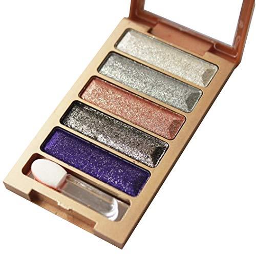 feiXIANG 5 couleurs yeux ombre perle métallique palette fard à paupières maquillage Ombre à Paupières Haute Lumière Maquillage cosmétique